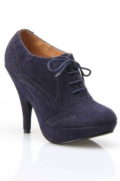 Oxford Bootie In Navy.