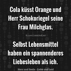 Cola küsst Orange und Herr Schokoriegel...  Besucht uns auch auf ---> https://www.herz-und-seele.eu