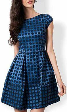 Blue Geo Shaped Dress