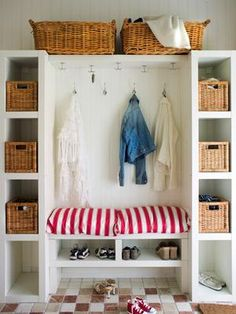 Can be easily made with Ikea media shelves, shoe console, and pillows!