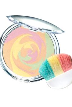 I love the marbleized look of this new powder from Physicians Formula. It's a nude base with pink tones to brighten, green to counteract redness, and yellow to add warmth.