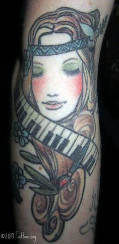 "Tattoosday (A Tattoo Blog): Olivia's ""Hippie Chick"""
