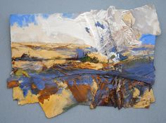 HARVEST LANDSCAPE (TOWARDS BLOXHAM) 2015, Price: £4850.00, Medium: Mixed Media on paper, Size: 50 X 67 cms David Tress