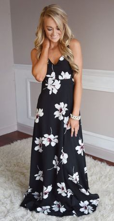 Stitch Fix 2017 Fashion. Ask your stylist for this piece for your next resort vacation or just for this upcoming spring and summer. Beautiful black and white maxi dress. #sponsored #stitchfix
