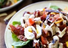 BBQ Chicken Salad with Chipotle Ranch Dressing from chef-in-training.com …This will be one salad you won't be able to forget and will have t...