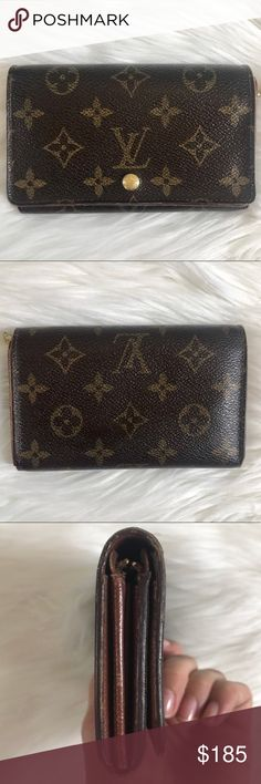 100% Authentic Louis Vuitton Monogram Wallet 100% authentic Louis Vuitton Monogram Wallet. Snap closure. See photos for signs of wear. Date code is SD0040.                                                                      ✨Add to bundle for a discounted price! Louis Vuitton Bags Wallets