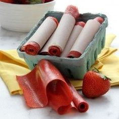 Strawberry Fruit Leather | Baked by Rachel