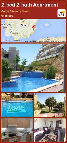 2-bed 2-bath Apartment in Aspe, Alicante, Spain ►€145,000 #PropertyForSaleInSpain
