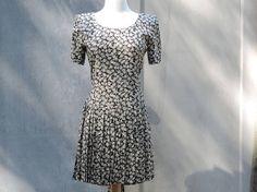 Vintage Dress Donna Ricco  New York Rayon Dress Short Sleeve