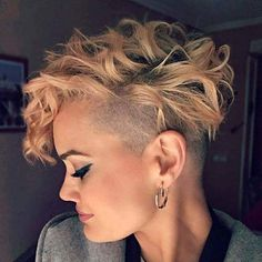 Short Shaved Haircuts, Curly Short Lucille Hair, One Side Shaved Pixie, Pixie Hairtyles Short One. Shaved Curly Hair, Short Shaved Hairstyles, Short Layered Bob Haircuts, Haircuts For Curly Hair, Undercut Hairstyles, Short Curly Hair, Short Hairstyles For Women, Short Hair Cuts, Curly Hair Styles