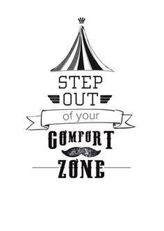 Happy page uit het Woonbeurs huis van vtwonen 2014: Step out of your comfort zone #quote