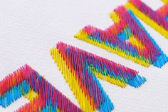 Graphic Design Inspiration #type #craft #handmade #stitch #colours #perfect