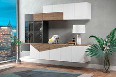CROCKERY Unit #2 on Behance Living Room Partition Design, Room Partition Designs, Dining Room Design, Dining Area, Crockery Cabinet, Dining Cabinet, Crockery Units, Kitchen Wall Units, Tv Unit Design