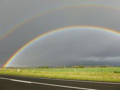 Double rainbow taken after the hail storm and snow, Daylesford, Victoria  @paulosilvamusic  23/08/2012