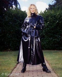 SBR Raincoat Lady Black Raincoat, Pvc Raincoat, Raincoat Jacket, Patent Trench Coats, Rubber Raincoats, Long Leather Coat, Langer Mantel, Weather Wear, Cosplay