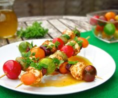Italian! Caprese salad on skewers! So colourful, perfect pick-nick food!