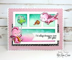 Kraftin' Kimmie Stamps DARLING DRAGONS stamp set Some Ideas, Homemade Cards, Stamps, Just For You, Scrapbook, Frame, Artist, Cardmaking, Dragons