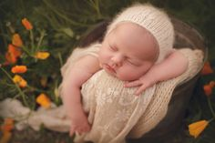 Bella bonnet  angora yarn  newborn photo props by MyLittleRarities