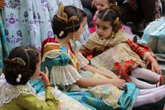 Hundreds Of Kids Wear Traditional Costumes During Las Fallas Festival In Valencia