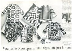RARE 1965 Vera Neumann Vera Paints Newsyprints Art Print Ad | eBay