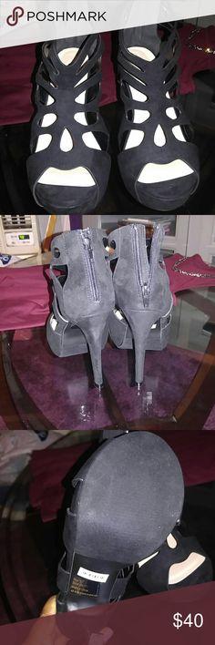 Torrid Black heels Black scallop design heels super sexy fun and flirty must have brand new with box never worn torrid Shoes Heels