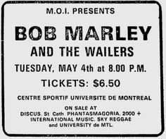 Bob Marley And The Wailers - Voice Of The Sufferers - Memorabilia Tour Posters Family First, First Love, Of Montreal, Montreal Canada, Nesta Marley, The Wailers, Tour Posters, Bob Marley, Reggae