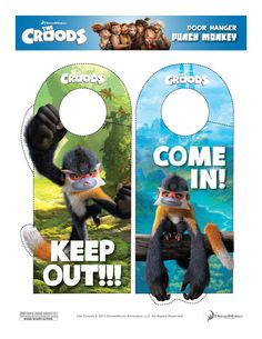 The Croods Punch Monkeys FREE Printables