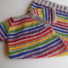 Beyond Puerperium - evenly-spaced rainbow and neutral stripes (2 rows by 2 rows)