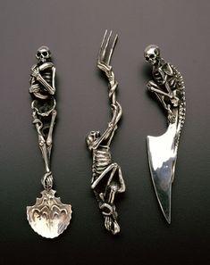 Skull utensils