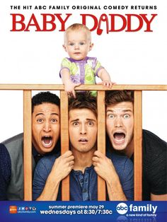 Baby Daddy (ABC Family-2012-Present), a comedy, drama family TV series created by  Dan Berendsen. Surprise! You're a father! A 20-something bachelor bartender becomes an unlikely parent when an ex-girlfriend leaves a baby girl on his doorstep. The addition to Ben's family -- or having a family -- turns his life upside down. Stars: Jean-Luc Bilodeau, Tahj Mowry, Derek Theler.