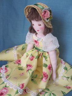 Georgina 12 Rag Doll / Cloth Doll an Edith Flack by dollways2