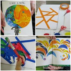 Exploring and designing stained glass art by Teach Preschool