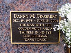 """Danny Dark - Actor. A voice actor, he was the voice of the NBC television network and countless other clients. Known as """"Danny Dark,"""" for years he served as the spokesman or voice for Budweiser, RCA, Chevrolet, Kmart, AT&T, Texaco, Whitman's Candies and Keebler Cookies. He was also the voice-over announcer for the television show """"Bonanza"""" and had numerous roles in the cartoon series """"Super Friends."""""""