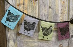 Chicken Flags! Hen party decor