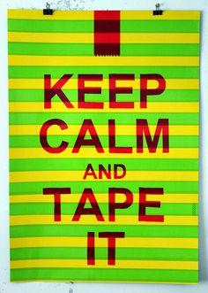 Nikolay Vasilyev. Drawings and Tape art / Графика и скотч арт. Николай Васильев: keep calm and tape it