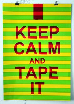 Nikolay Vasilyev. Drawings and Tape art / Графика и скотч арт. Николай Васильев: keep calm and tape it