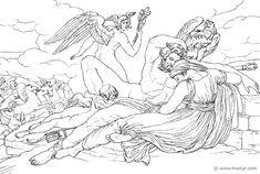 Hypnos, Zeus ed Hera (Hom.Il.14.350). Bonaventura Genelli (1798 – 1868)