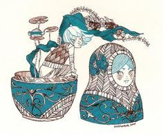 matrioska illustration - Buscar con Google