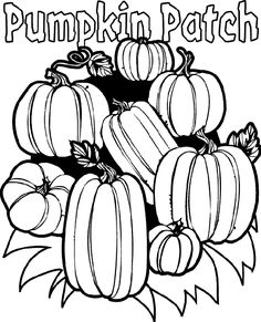 Giant Pumpkin Coloring Page | Activities, Craft and Color sheets