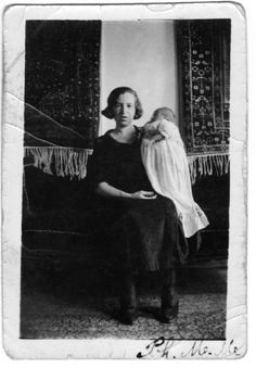 """My dad, Mike Sutton, took this photo, at about age 12, of his mother and his new baby brother, Joe. He'd always been interested in photography, so he saved his money and bought a camera and took pictures all over town. Many of the fabulous photos in my book about him, """"Farewell, Aleppo,"""" he took himself! Oh, the things we learn when we start asking family stories. Ask!!! Aleppo, My People, My Father, New Baby Products, My Books, Brother, Dads, Money, Couple Photos"""