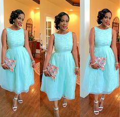 Cheap blue evening, Buy Quality party gown directly from China sky blue evening dress Suppliers: 2016 New Light Sky Blue Evening Dresses Crew Neck Lace Formal Prom Dresses Sleeveless Dresses Party Gowns Custom Made Blue Lace Prom Dress, Blue Evening Dresses, African Dresses For Women, African Attire, African Women, African Outfits, African Wear, Lovely Dresses, Elegant Dresses