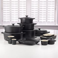 Le Creuset Cast Iron Satin Black set