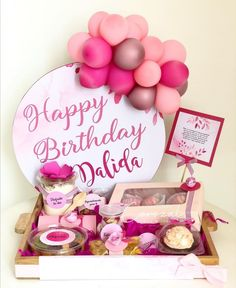 Gift Hampers, Gift Baskets, Happy Birthday, Birthday Cake, Flower Boxes, Flowers, Candy Bouquet, Wooden Hearts, Ideas Para