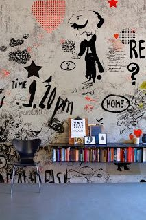 inspire dedesign...: Decorate with wallpaper!