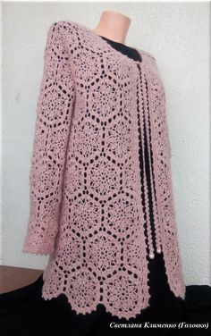 Crochet Coat, Crochet Blouse, Heart Patterns, Chrochet, Crochet Blanket Patterns, Lady, Tops, Dresses, Fashion