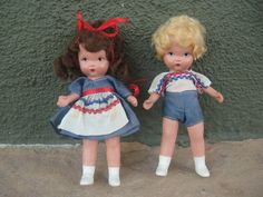 Rare Judy Ann Jack and Jill Nancy Ann Storybook Dolls - Super!