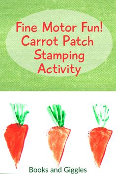 How to make an easy carrot shaped potato stamp as an Easter, gardening, or healthy eating themed craft activity. Creative Activities For Kids, Creative Arts And Crafts, Creative Kids, Preschool Activities, Painting Activities, Motor Activities, Preschool Learning, Easter Crafts For Kids, Toddler Crafts