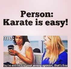 And so begins the argument over karate being harder than marching band