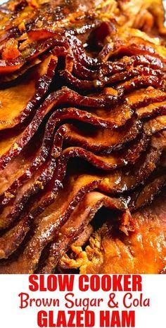 Slow Cooker Ham Recipes, Crockpot Dishes, Crock Pot Slow Cooker, Crock Pot Cooking, Pork Recipes, Crockpot Recipes, Cooking Recipes, Ham In Slow Cooker, Crock Pot Ham