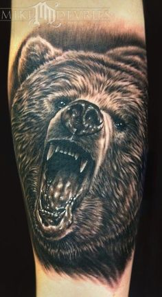 Watch out for bears! #InkedMagazine #bear #tattoo #wildlife #animal #tattoos #inked #ink
